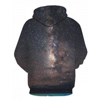 Galaxy Trippy 3D Printed Pullover Hoodie - COLORMIX 2XL