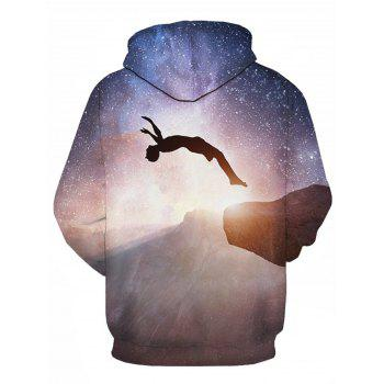 Figure Galaxy 3D Printed Pullover Hoodie - COLORMIX L