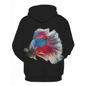 Fancy Carp 3D Printed Pullover Hoodie - COLORMIX 2XL