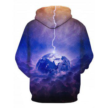 Earth Trippy Galaxy 3D Print Pullover Hoodie - COLORMIX 2XL