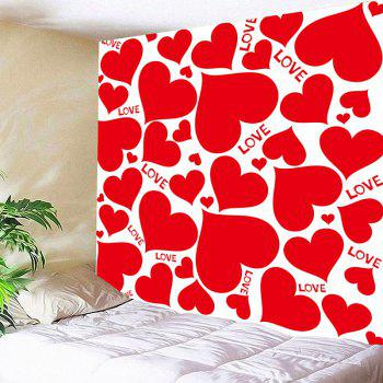 Valentine's Day Full Hearts Wall Hanging - RED W91 INCH * L71 INCH