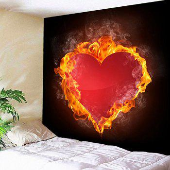 Valentine's Day Fiery Heart Wall Hanging - RED W91 INCH * L71 INCH