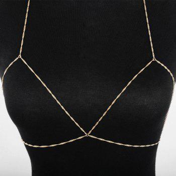 Geometric Simple Bra Body Chain - GOLDEN