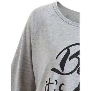Baby Its Cold Outside Plus Size Christmas T-shirt - GRAY GRAY
