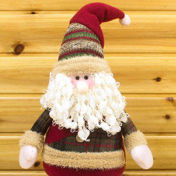Winter Dress-up Santa Claus Snowman Stretchable Cloth Doll -  RED