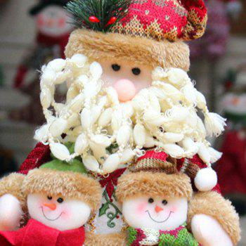 Snowman Santa Claus Dress-up Cloth Doll Ornament Christmas -  RED