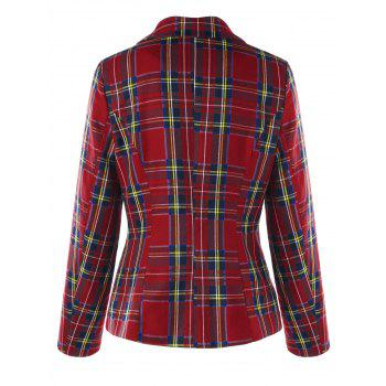 Checked Zip Fly Jacket - CHECKED XL