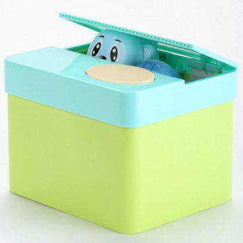 Cute Automatic Cartoon Bear Money Box - EMERALD