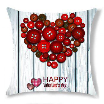 Valentine Fastener Heart Pattern Decorative Pillow Case - COLORFUL W18 INCH * L18 INCH
