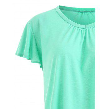 Plus Size Swing Plain Tee - BRILLIANT GREEN 3XL