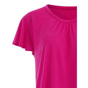 Plus Size Swing Plain Tee - SANGRIA 3XL