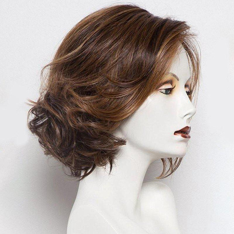 Short Colormix Side Parting Wavy Bob Synthetic Wig short ombre side parting wavy synthetic wig
