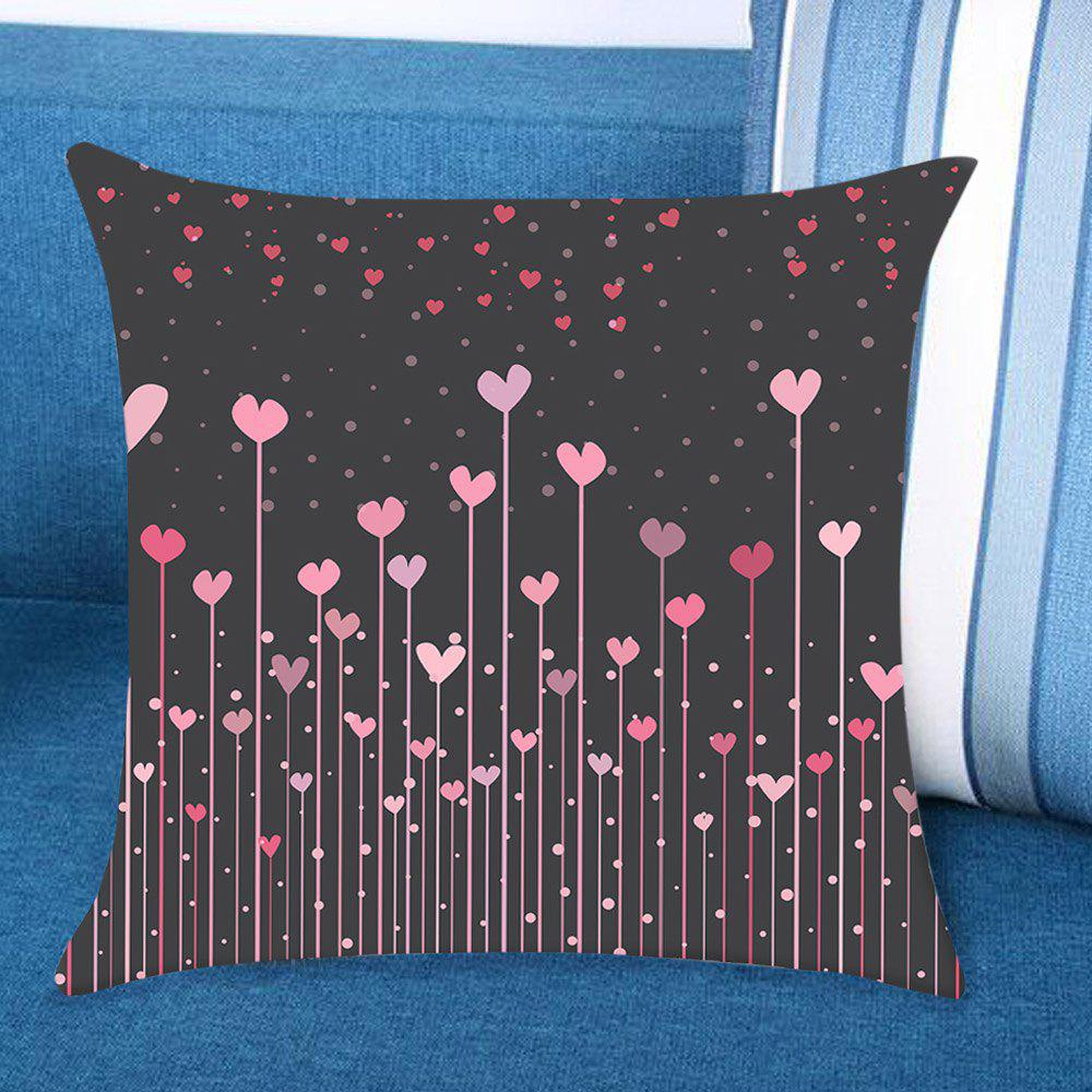 Valentine's Day Hearts Hanging Woods Printed Linen Pillow Case linen christmas snowman printed home decor pillow case