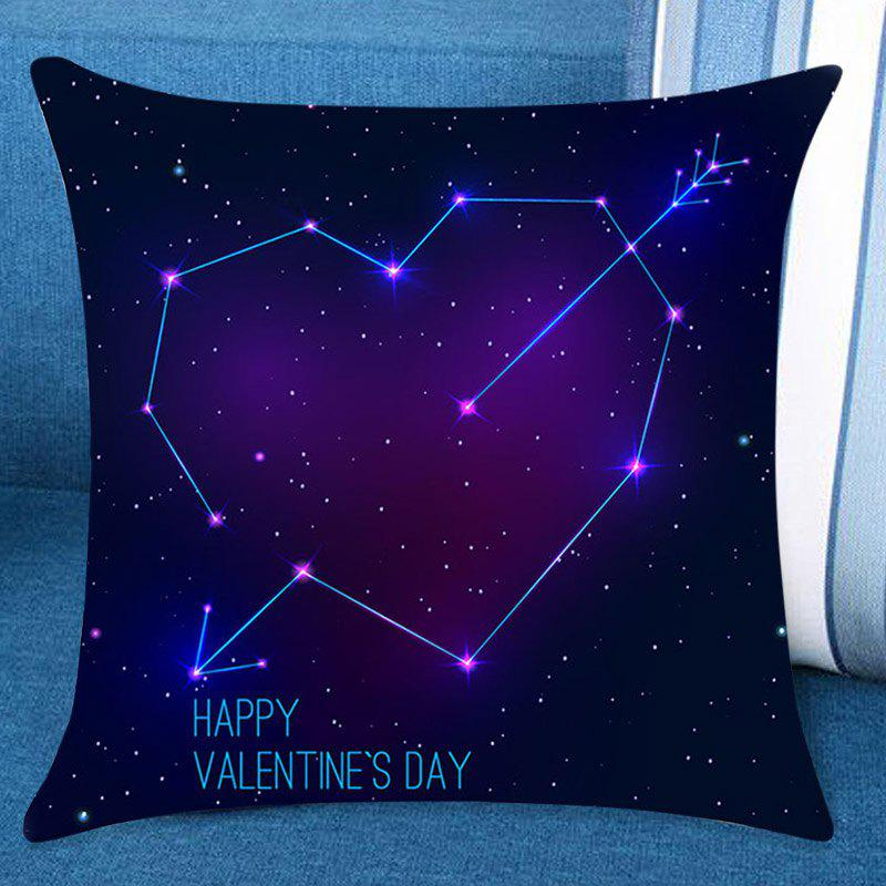 Valentine's Day Starry Star Heart Arrow Printed Decorative Linen Pillow Case
