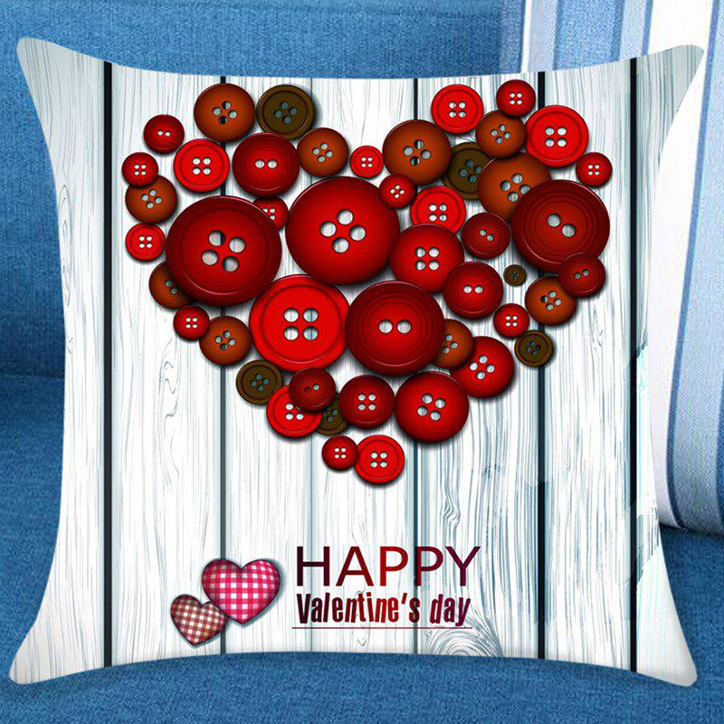 Valentine Fastener Heart Pattern Decorative Pillow Case lovers pattern valentine pillow case