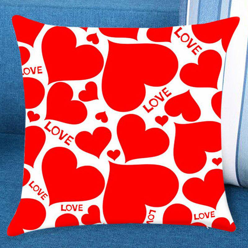 Heart Love Print Valentines Day Linen Sofa Pillowcase bicycle lpv love promise of vow poke valentines day gifts