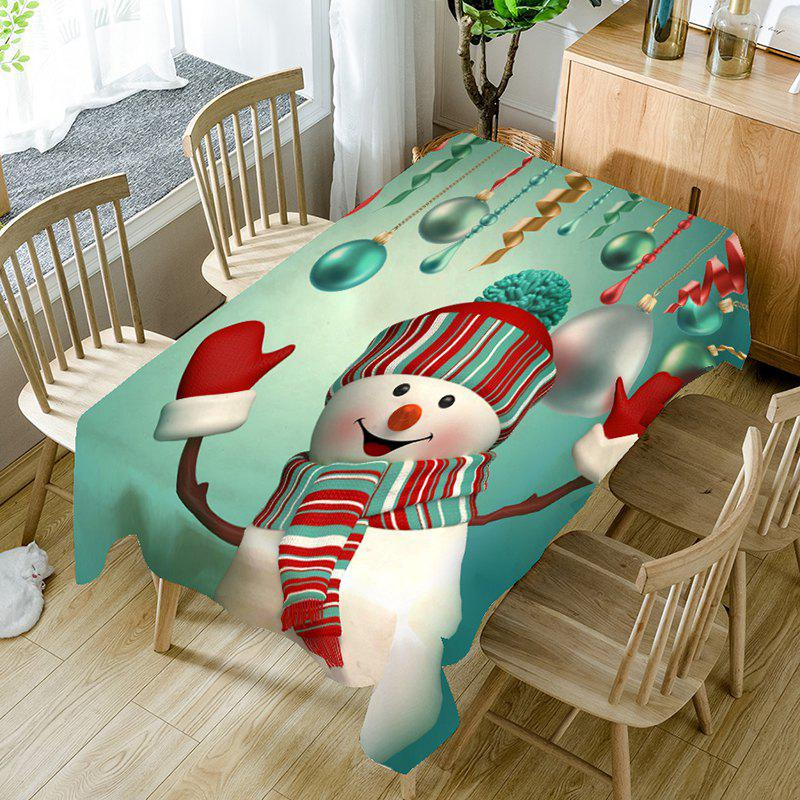 Christmas Snowman Pattern Table Cloth christmas home decor snowman double table mat