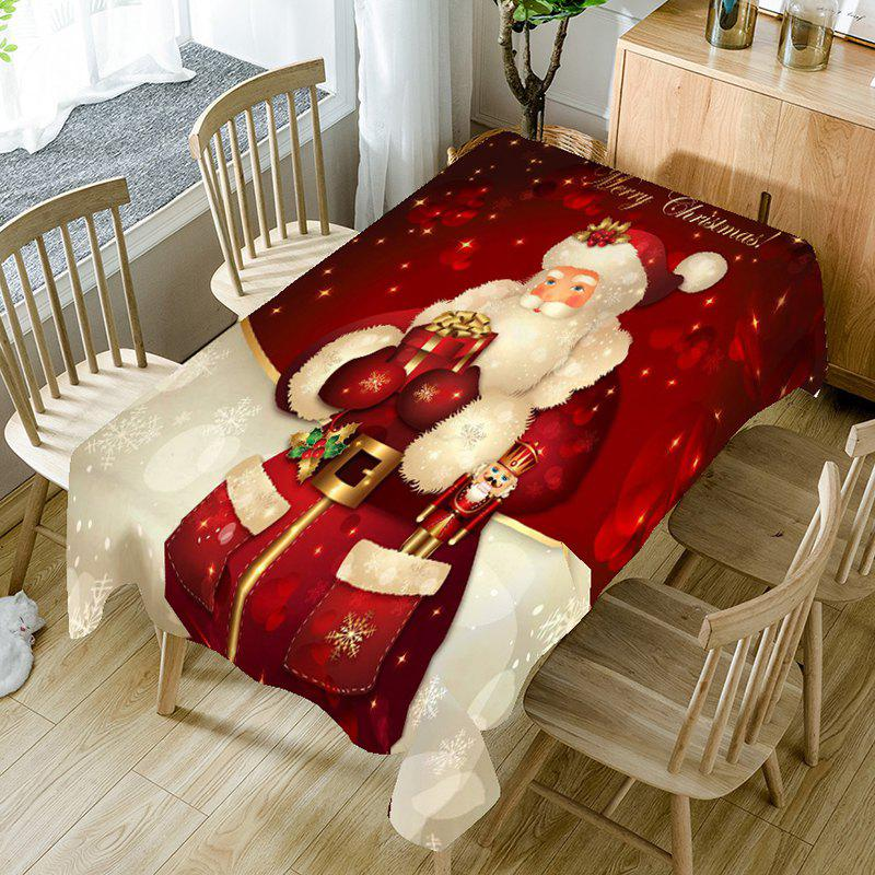 Santa Claus Printed Home Decor Table Cloth - RED W54 INCH * L72 INCH