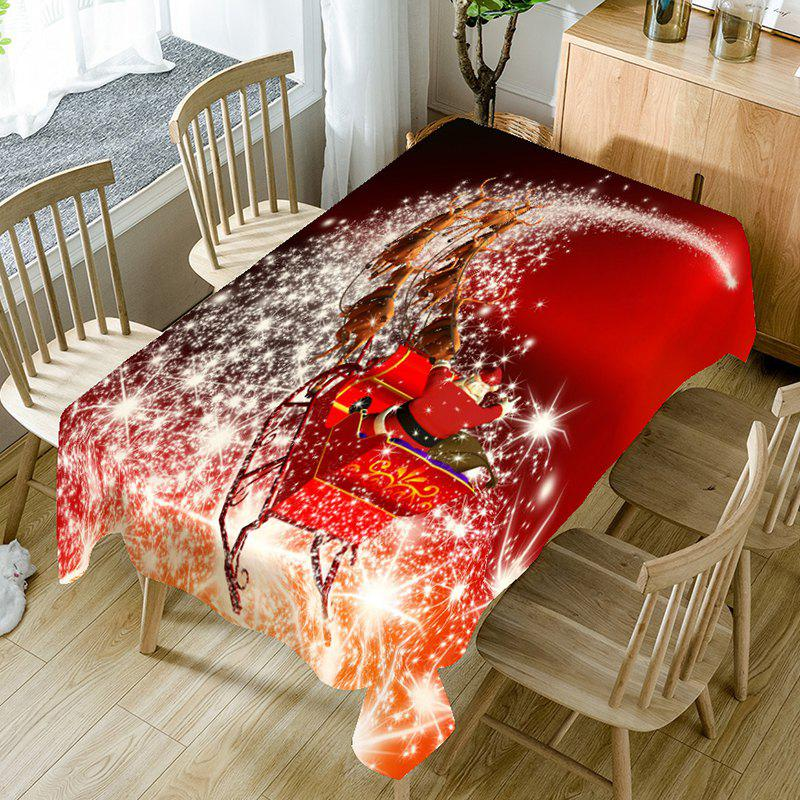 Christmas Starlight Carriage Printed Table Cloth - RED W60 INCH * L84 INCH