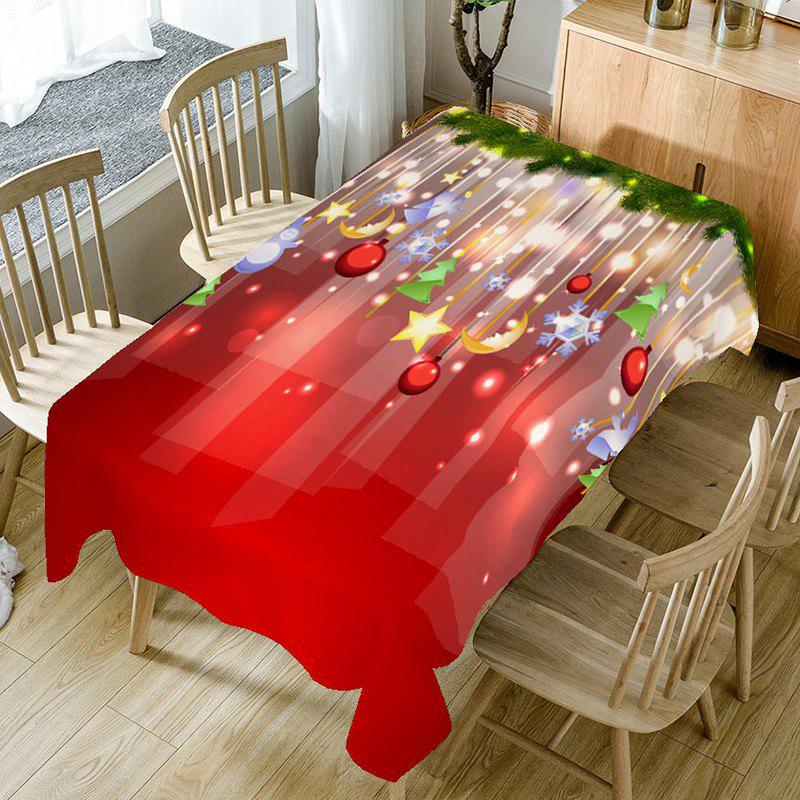 Christmas Ball Printed Home Decor Table Cloth - COLORFUL W60 INCH * L84 INCH