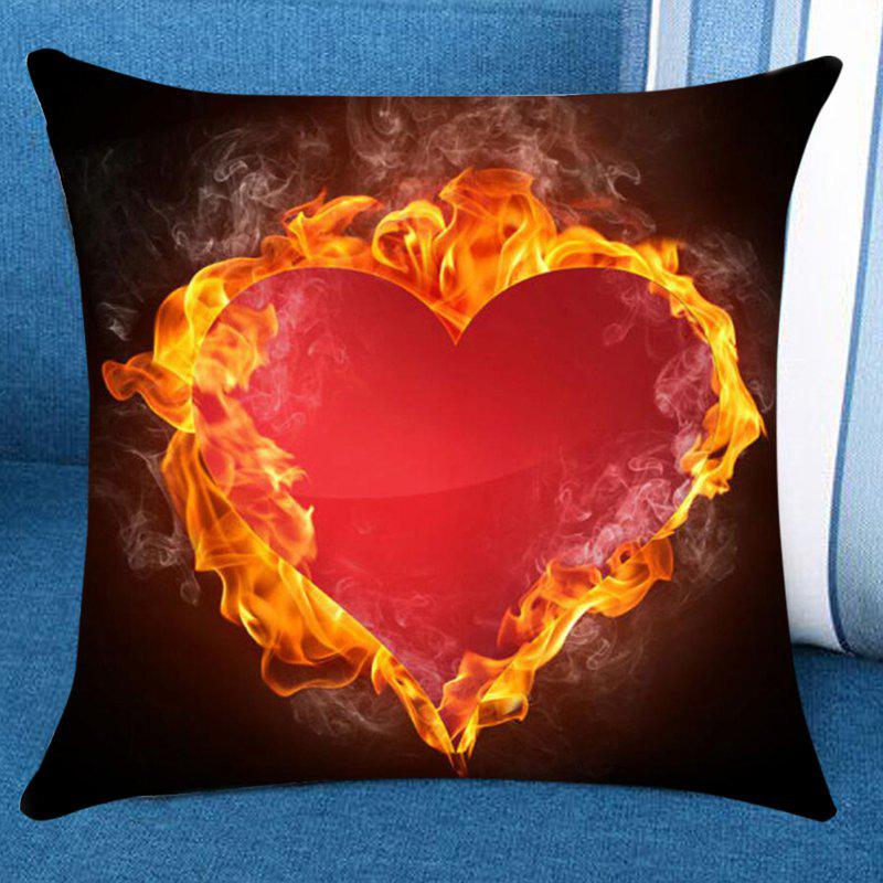 Heart in Fire Printed Pillow Case - COLORFUL W18 INCH * L18 INCH