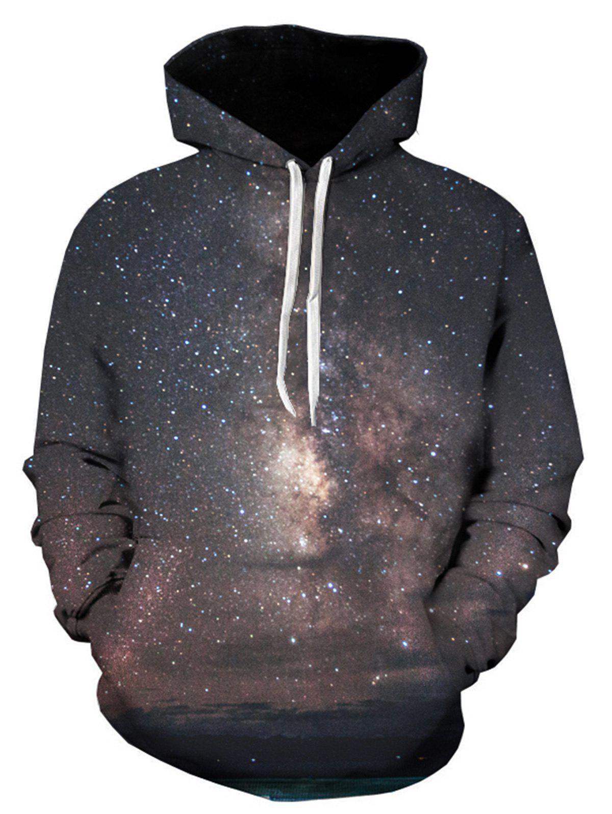 Galaxy Trippy 3D Printed Pullover Hoodie - COLORMIX 3XL