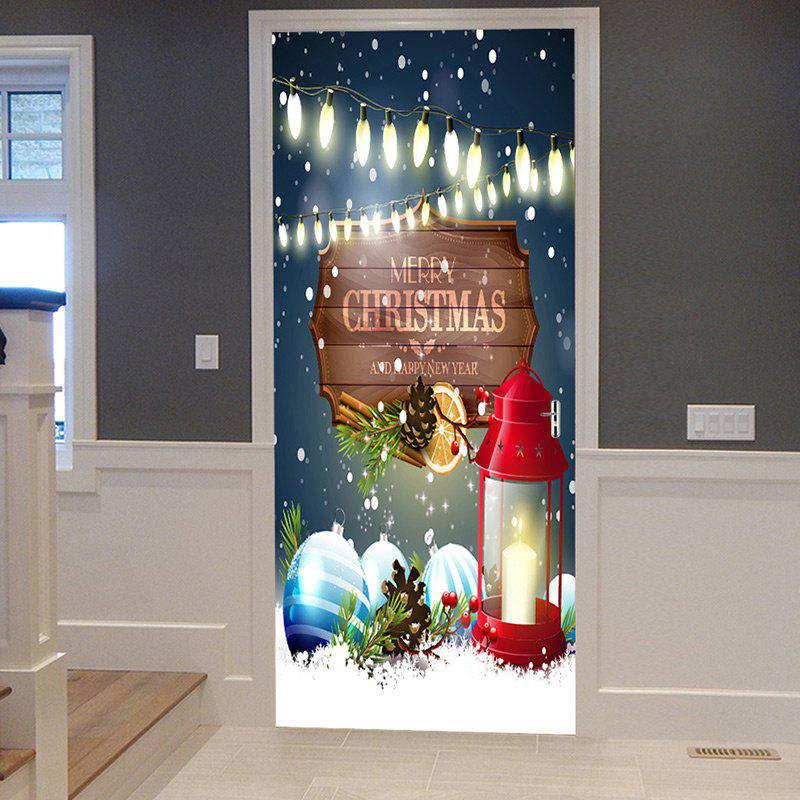 Christmas Lantern Baubles Pattern Door Stickers