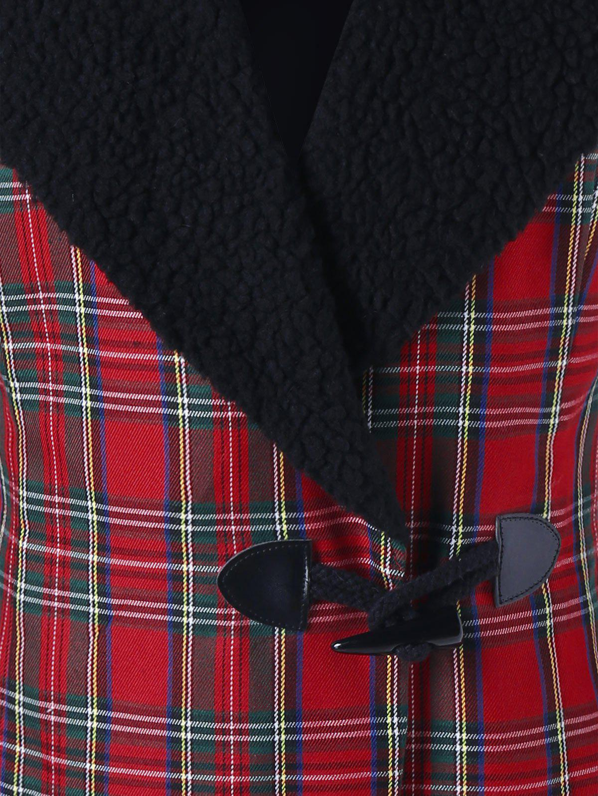 Horn Button Checked Jacket - CHECKED XL