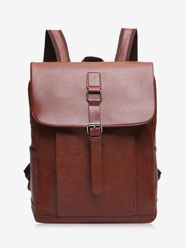 2018 Buckle Strap Faux Leather Backpack LIGHT BROWN In Backpacks ...