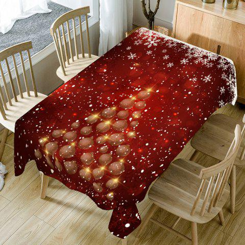 Snowflake Christmas Tree Printed Table Cloth - COLORFUL W60 INCH * L84 INCH