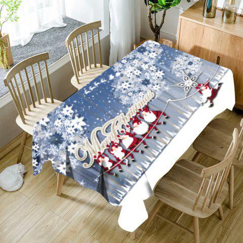 Hordes of Santa Claus Flower Print Waterproof Fabric Table Cloth - COLORMIX W60 INCH * L84 INCH