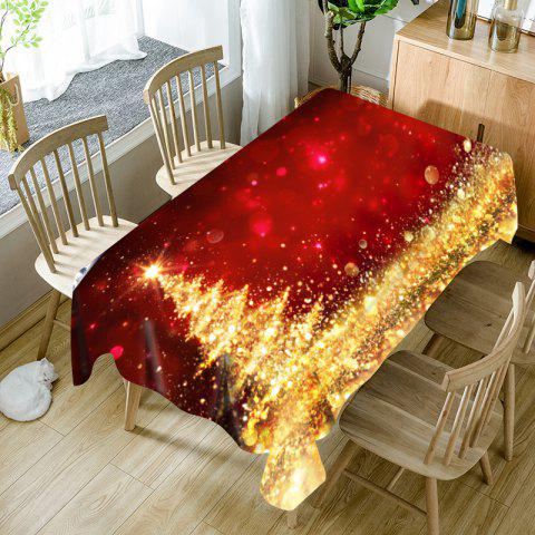 Abstract Christmas Tree Printed Waterproof Fabric Table Cloth - RED / GOLDEN W54 INCH * L54 INCH