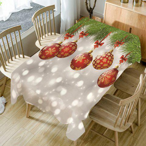 Christmas Snowflake Bauble Bubble Pattern Table Cloth - COLORFUL W54 INCH * L54 INCH