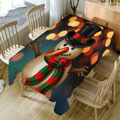 Christmas Long Nose Snowman Printed Table Cloth - COLORFUL W60 INCH * L84 INCH