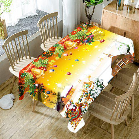Merry Christmas Printed Waterproof Table Cloth - COLORMIX W60 INCH * L84 INCH