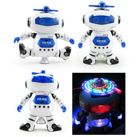 Modern 360 Degree Rotation Space Dancing Electric Robot Toy - WHITE