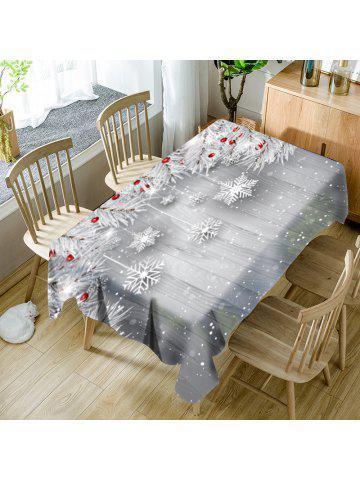 christmas snowflake ornaments pattern waterproof table cloth - Square Christmas Tablecloth