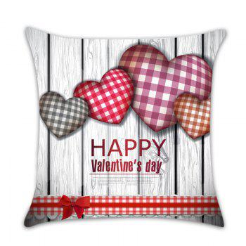 Valentine Theme Lovely Heart Pattern Decorative Pillow Case - COLORFUL W18 INCH * L18 INCH