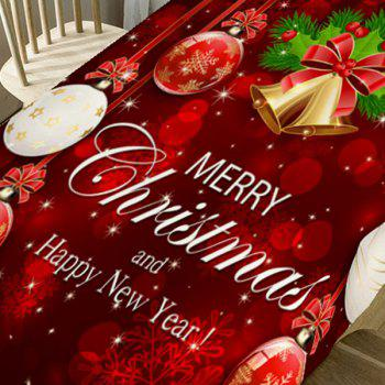 Merry Christmas Theme Printed Home Decor Table Cloth - RED W54 INCH * L72 INCH