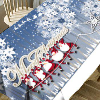 Hordes of Santa Claus Flower Print Waterproof Fabric Table Cloth - COLORMIX W54 INCH * L54 INCH