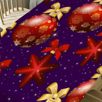 Bowknot Christmas Ball Print Table Cloth - RED W54 INCH * L54 INCH