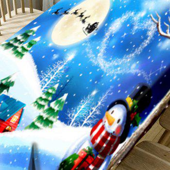 Christmas Snowscape Pattern Waterproof Fabric Table Cloth - COLORMIX W60 INCH * L84 INCH