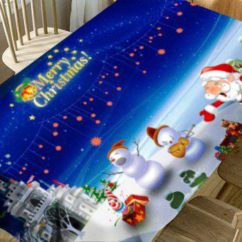 Cartoon Outdoor Christmas Party Pattern Waterproof Table Cloth - COLORMIX W54 INCH * L72 INCH
