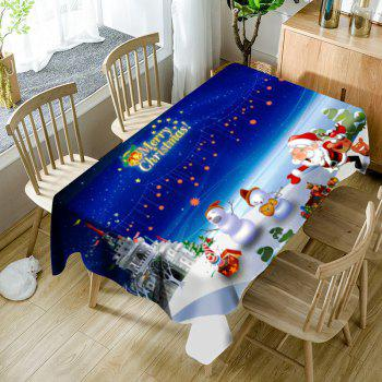 Cartoon Outdoor Christmas Party Pattern Waterproof Table Cloth - COLORMIX COLORMIX