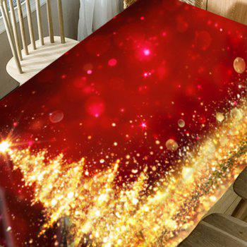 Abstract Christmas Tree Printed Waterproof Fabric Table Cloth - RED / GOLDEN W60 INCH * L84 INCH