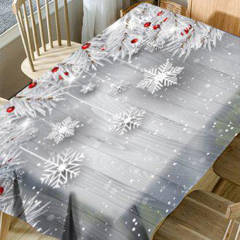 Christmas Snowflake Ornaments Pattern Waterproof Table Cloth - SILVER GRAY W54 INCH * L72 INCH