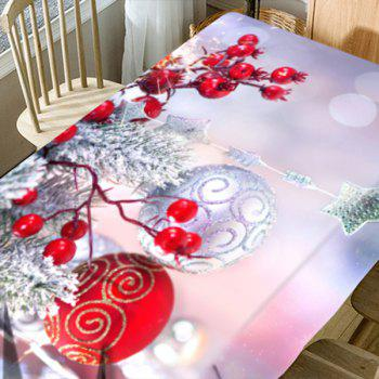 Christmas Balls Ornaments Pattern Waterproof Table Cloth - COLORMIX W60 INCH * L84 INCH