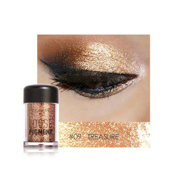 Professional Highly Pigmented Shimmer Glitter Eyeshadows Powder - #09