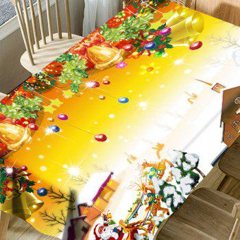 Merry Christmas Printed Waterproof Table Cloth - COLORMIX W54 INCH * L72 INCH