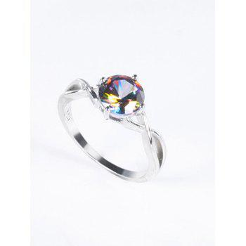 Faux Gem Infinite Finger Ring - SILVER 8